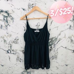 Old Navy Perfect Fit Silk Sequins Camisole Black